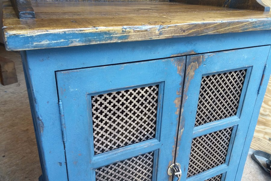 Cabinet bleu antique