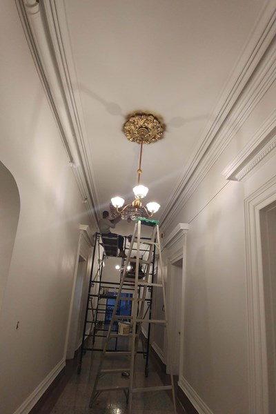 Plafond en feuille d'or